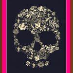 freebie flower skull