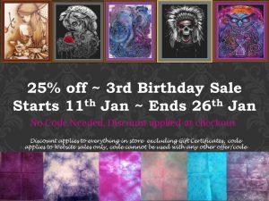 3rd birthday sale chart