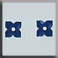 4 Petal Flower Matte Sapphire ~ 12189