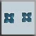 4 Petal Flower Matte Aqua ~ 12187