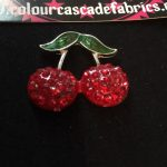 Rhinestone Cherries Needleminder