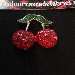 Rhinestone Cherries Needleminder