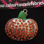 Rhinestone Pumpkin Halloween Needleminder Second
