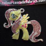 Rhinestone Yellow Pony Needleminder