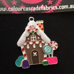 Gingerbread House Enamel Needleminder