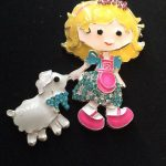 Little Bo Peep and a Sheep Rhinestone Needleminder