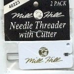 Mill Hill Needle Threader with Cutter ~ 2 pack