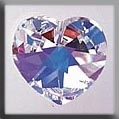 Large Heart Crystal AB ~ 13047